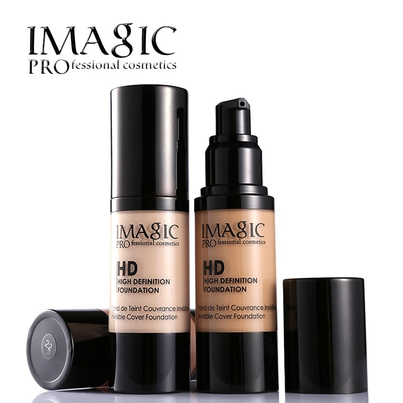 6 colors HD  Liquid Foundation  makeup Concealer Moisturizer Base  Lo