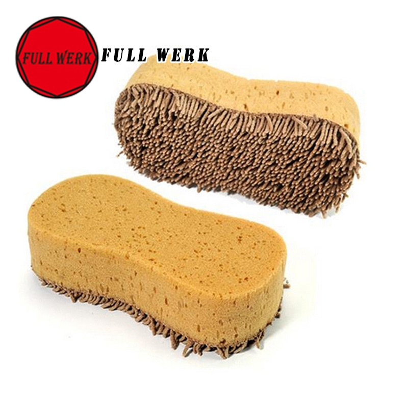 2pcs/1pair Quality 8-style Plush Scratch-Resistant Car Wash Spongecar