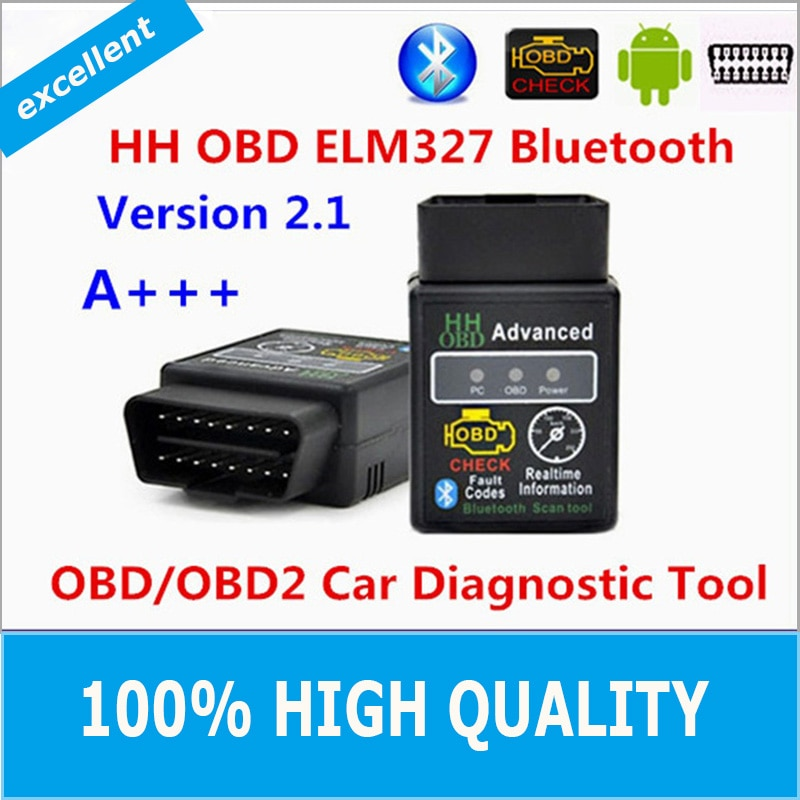 Quality Hot Auto Car ELM327 HH Bluetooth OBD 2 OBD II Diagnostic Scan