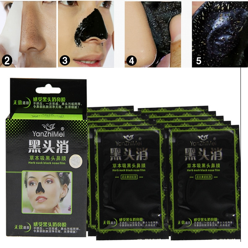 Face Care Nose Pore Mineral Mud Membranes  Cleaner Nose Blackhead Acn