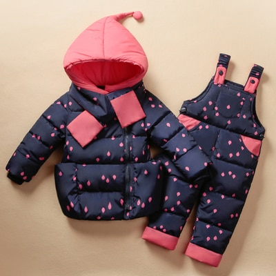 Children's Clothing Set Kids Ski Suit Overalls Baby Girls Down Coat Wa