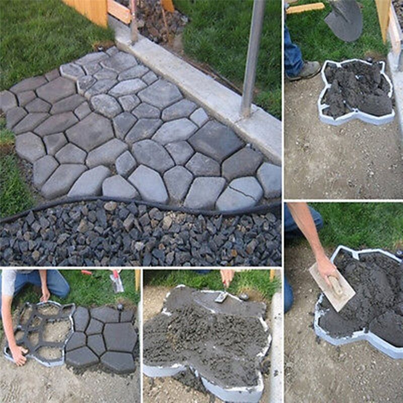 paving mold  for concrete DIY Stone plastic mold pathways for garden