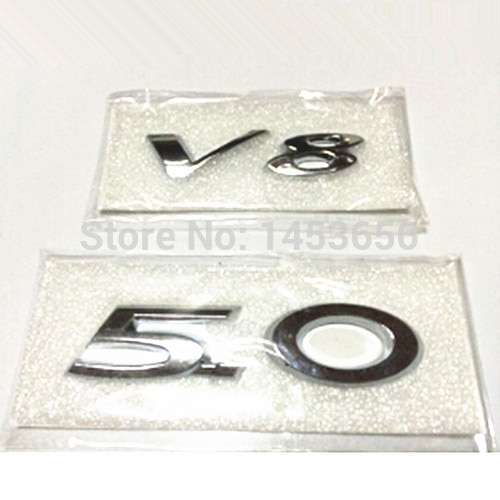 3D hood V8 5.0 letters Digital logo For Jaguar XJ XJL XF XK X-TYPE ca