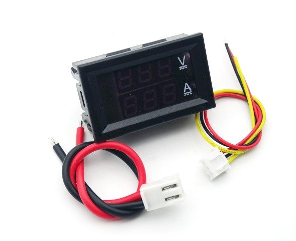 10-100 - v dc digital voltmeter dual display ammeter voltage detector