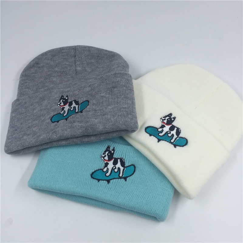 Arrival Womens Hat Hip-hop Beanie Spring autumn hats Skate animal Dogs