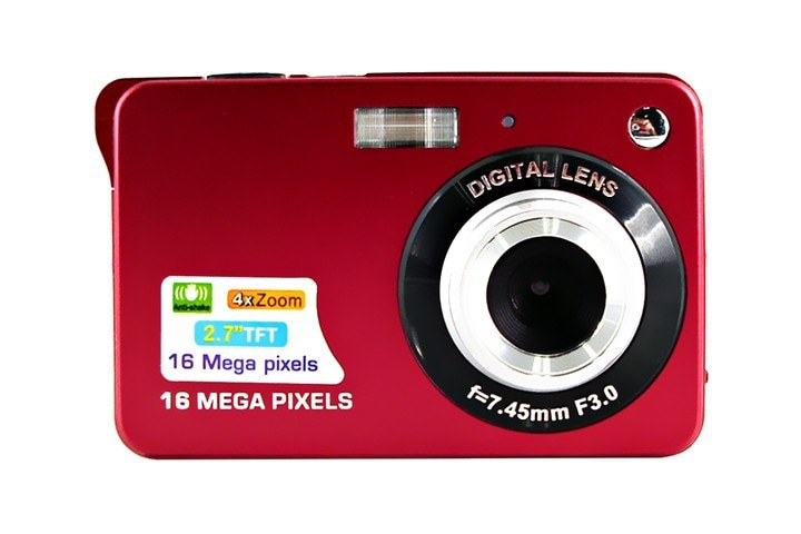 Digital Cameras 18MP 2.7 TFT 8X Zoom Smile Capture Anti-shake Video C