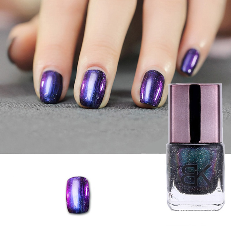 8ml Black Starry Sky Holographic Nail Polish  Glitter Nail Varnish En
