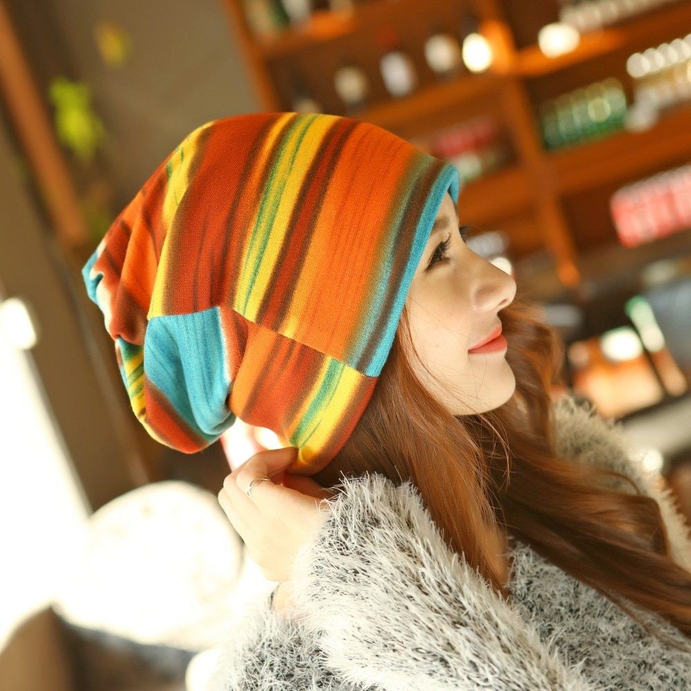 3 Use Cap Knitted Scarf & Winter Hats for Women Letter Beanies Women S