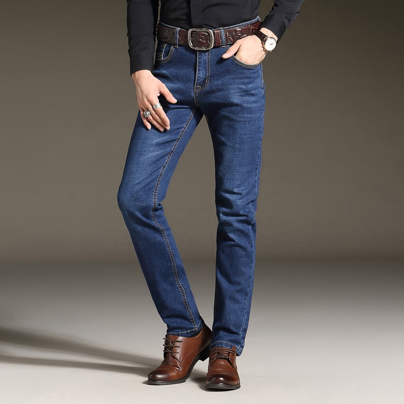Men's famous brand jeans men Fashion elasticity men's straight jeans