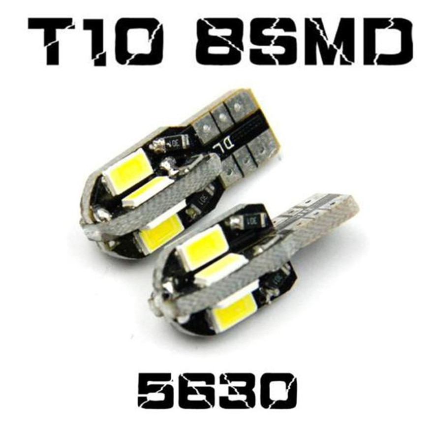 2pcs/Lot Canbus T10 8smd 5630 5730 LED car Light Canbus SMD Led Bulb