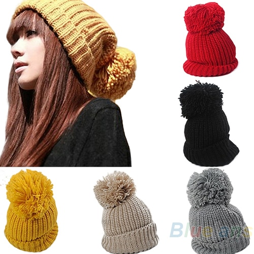 2013 Women's Winter Slouch Knit Cap Warm Oversized Cuffed Beanie Croch
