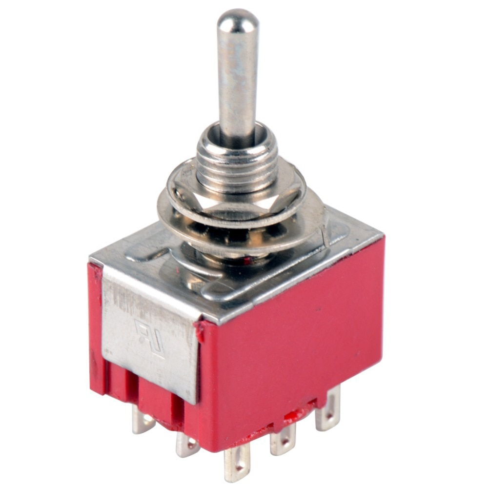 NEW Red 9 Pin ON-OFF-ON 3 Position Mini Toggle Switch AC 6A/125V 3A/2