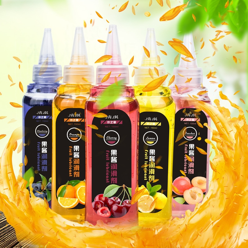 , 5 Flavors Choose 2 Kinds , Fruit Jam Body Lubricant 150ml Can Use Or