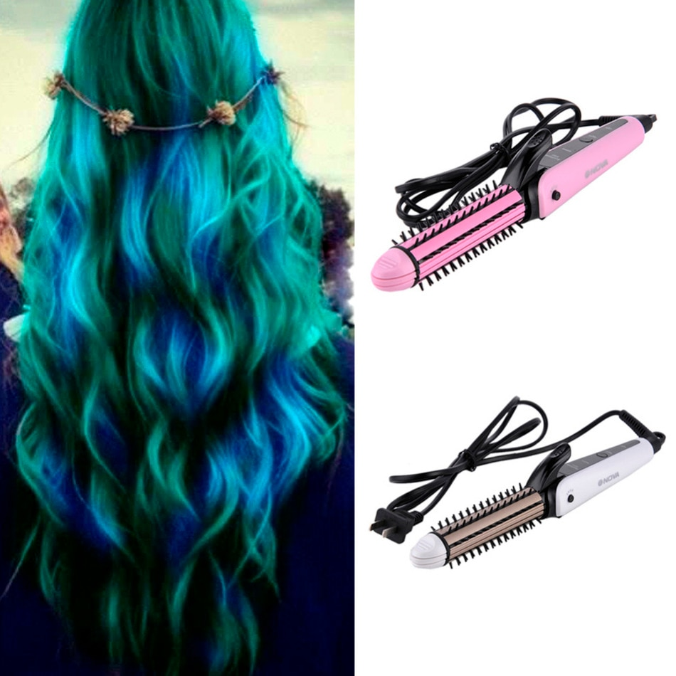 1 Style Hair Styling Tool Ceramic Flat Hair Straightener Roller Electr