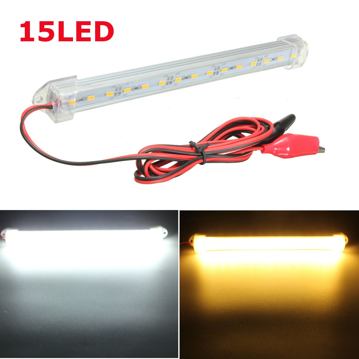 150cm 12V LED Car Interior Light Bar Tube Strip Lamp Van Boat Caravan