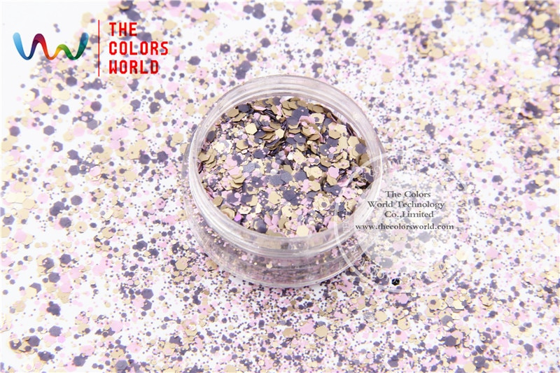 Colors Hexagon Shape Glitter Sequins for nail art  DIY decoration and
