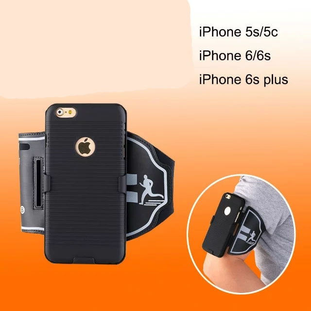 1 Workout Sport Running Riding Arm Band Gym Belt Phone Case For iPhone