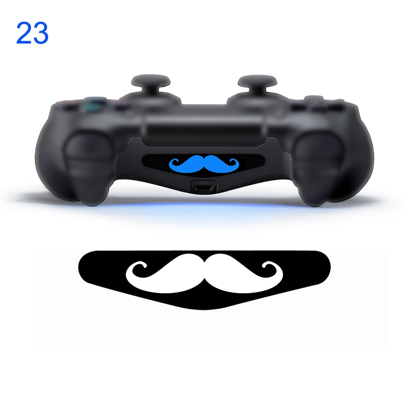 #23 mustache PVC Decal Skin Custom For Playstation 4 LED Light Bar De