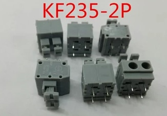 (100Pcs/lot) 2P KF235 3.81 Pitch PCB Spring Terminal Block connector K