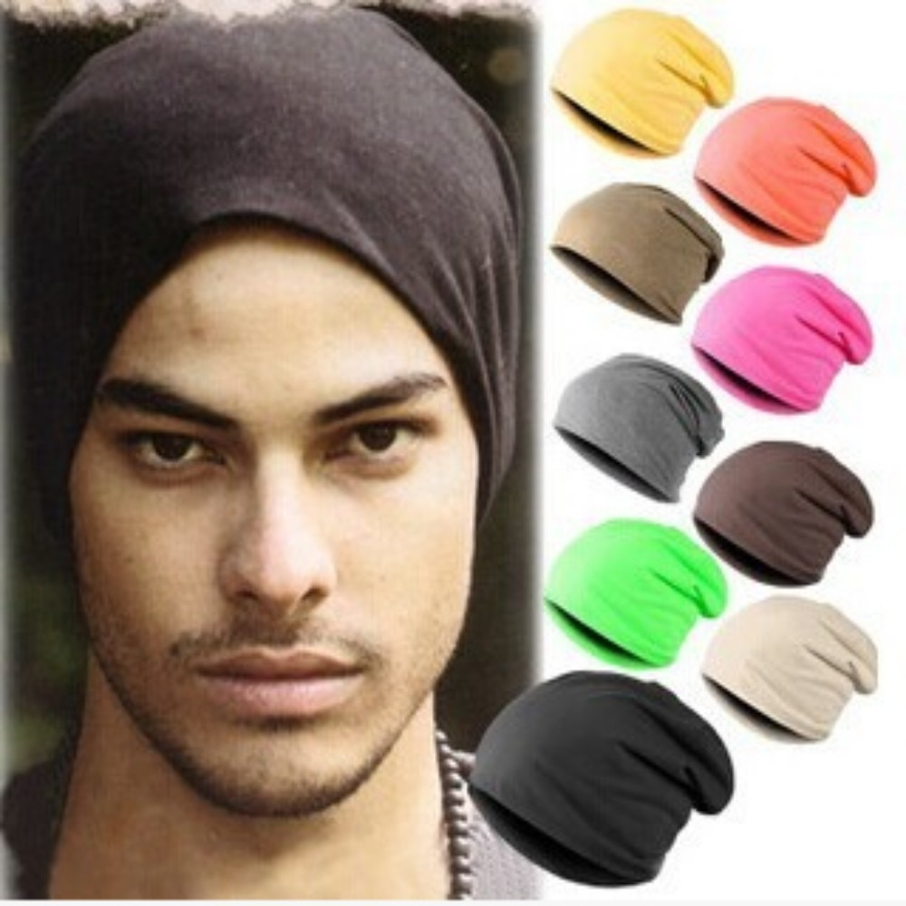 Color Autumn Warm stretchable Hats Men Fold Piles Casual Caps Dad Gift