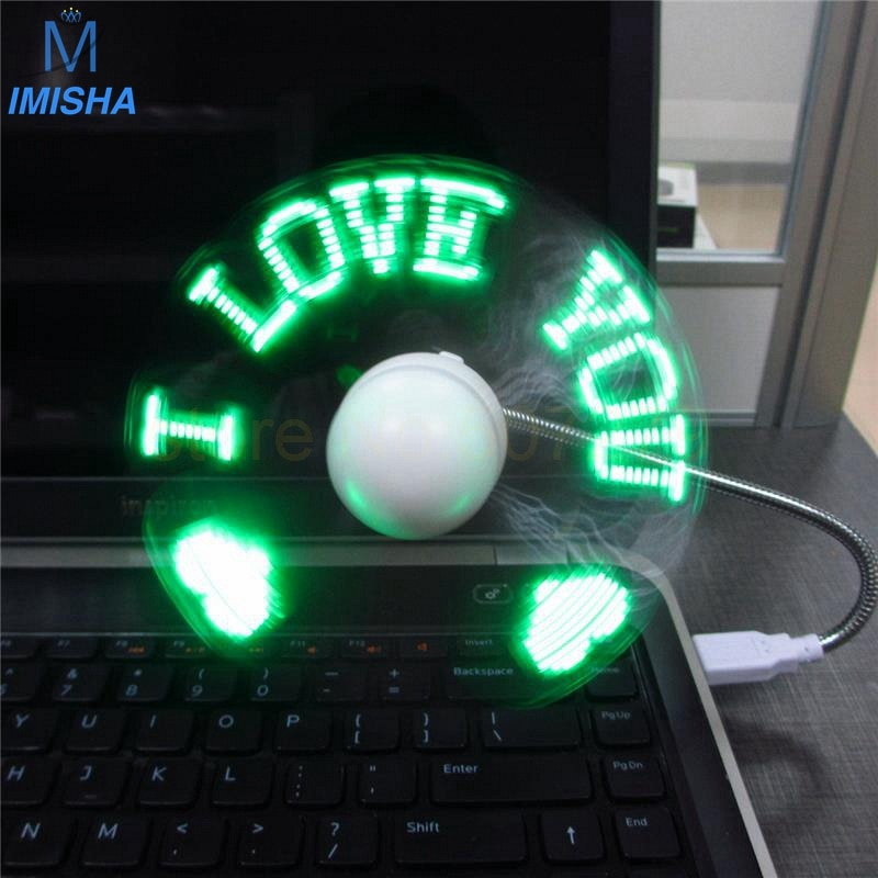 Bluetooth usb fan programmable led fan usb mini led message fan with