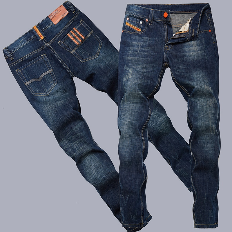 2016 fashion cotton straight Thin models Europe and America men jeans