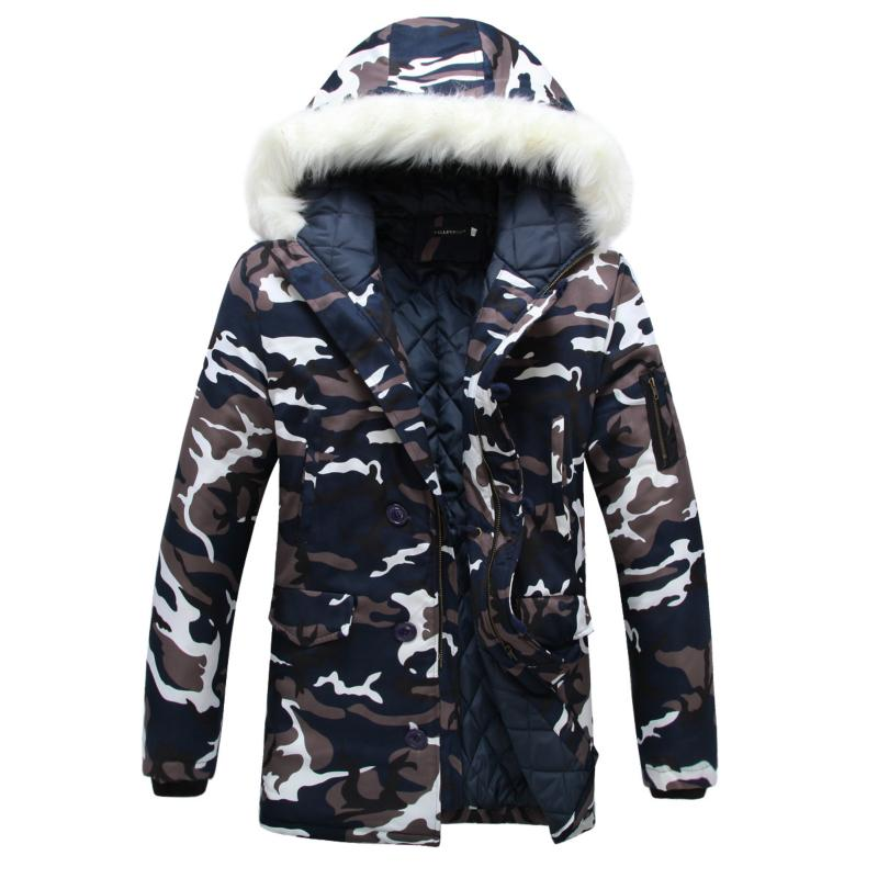 and winter the new Korean men's cotton padded jacket Mens couple camou