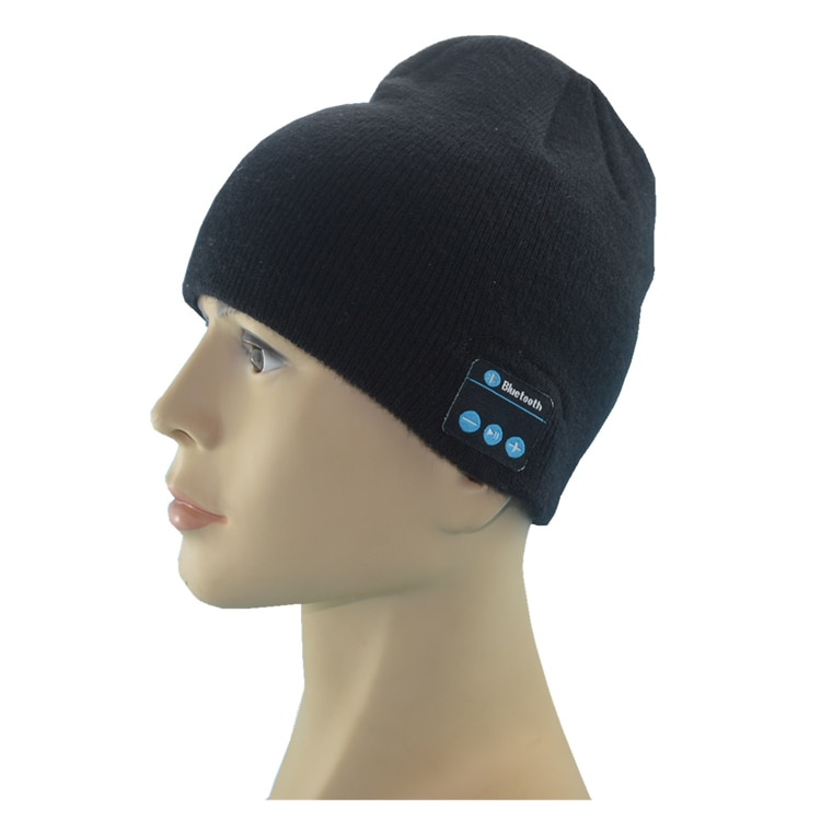 3.0 Headphone Hat Warm Winter Knit Sports Music Cap with Built in Hand