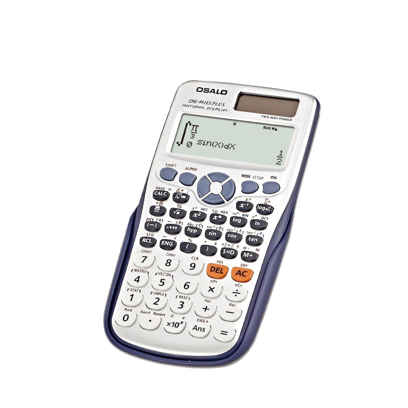 Calculator with Dual Power 12 digits AA battery 991ES Plus