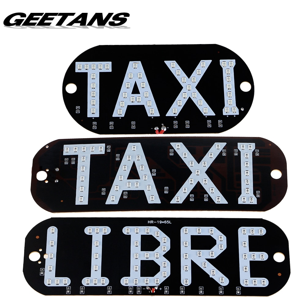 Taxi Libre Led license plate carligh Windscreen Cab indicator inside