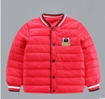 and winter new boys and girls printed down jacket inner core