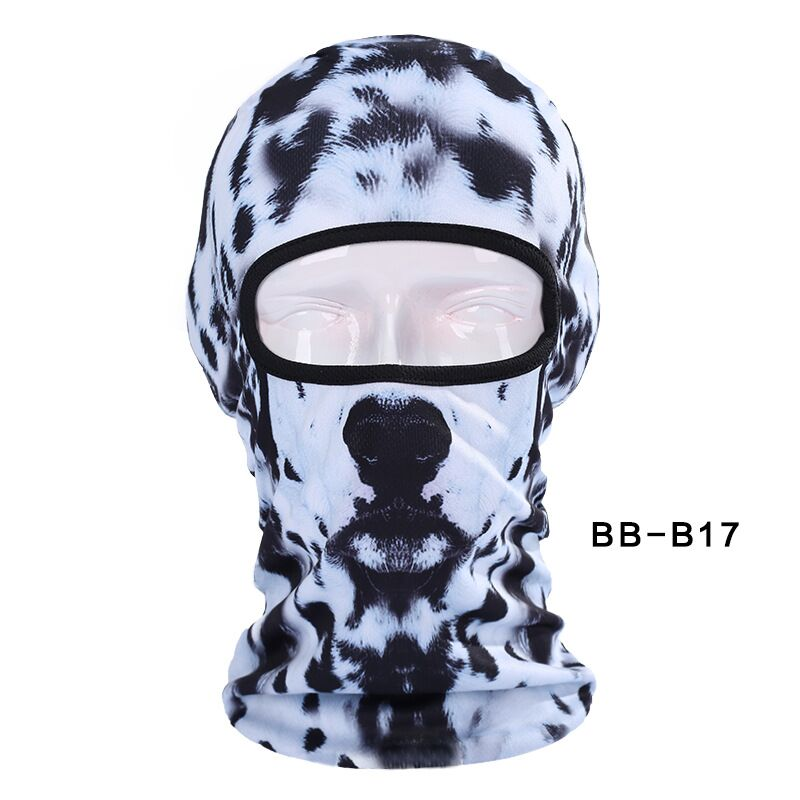 3d Dalmatians Dog Animal Bicycle Cycling Fishing Head Hat Outdoor Spor