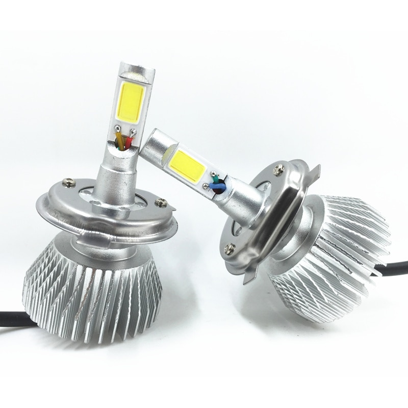 HB2 H4-3 High Low Beam 60W/Set 6000LM  12-24V COB 6000K Super Strong