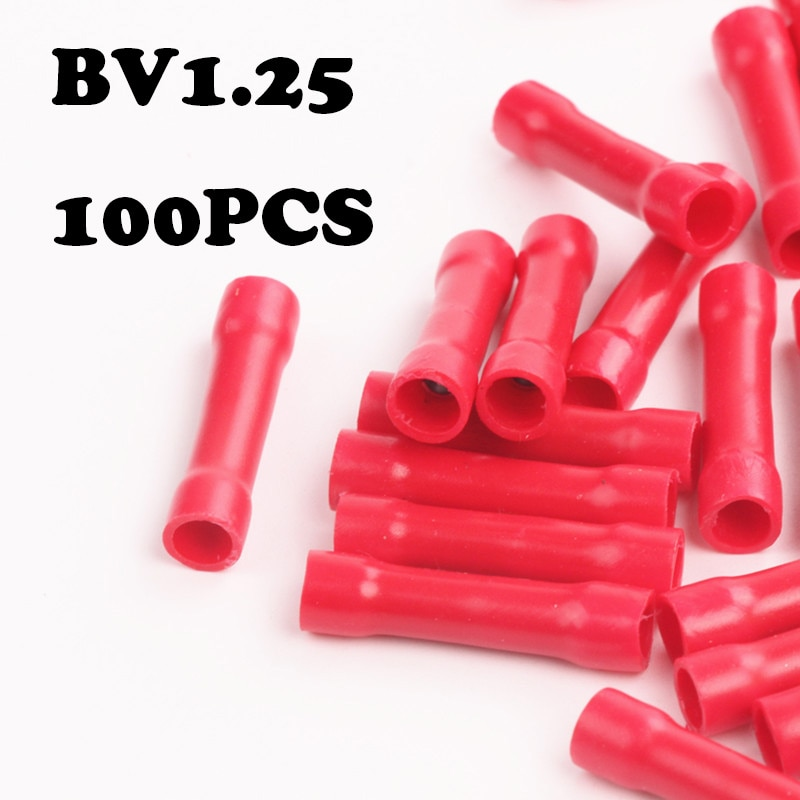 22-16awg Insulated Straight Wire Butt Connector Electrical Crimp Term