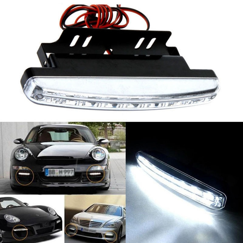 8LED Daytime Driving Running Light DRL Car Fog Lamp Waterproof White