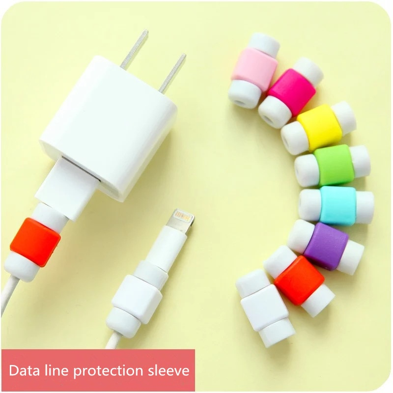 Cable clip  Earphone Protector Colorful Earphones Cover For Apple iPh