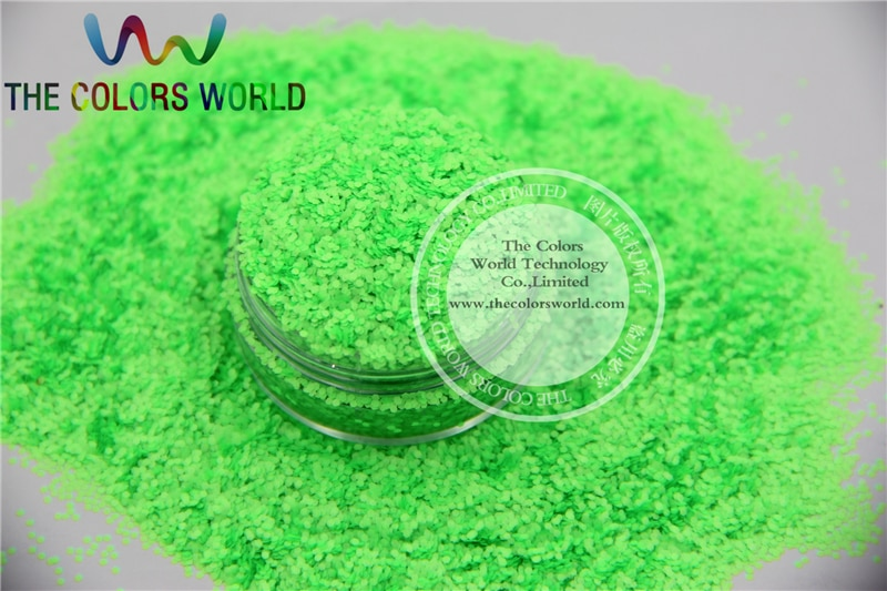 Green  Colors 0.8mm size solvent resistant glitter for nail Art nail