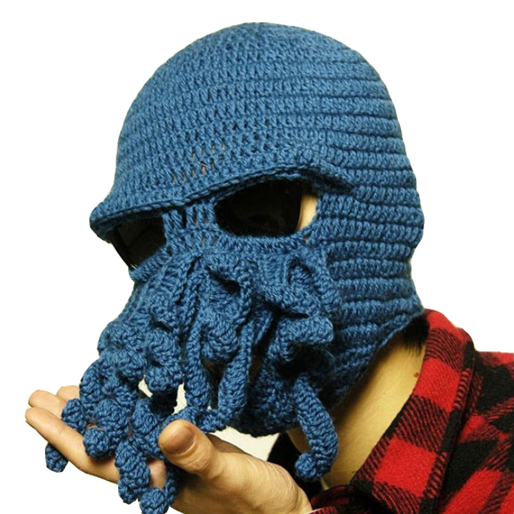 Animal Cthulu Beards Octopus Hats Crocheted Tentacle Beanies Men's Wom