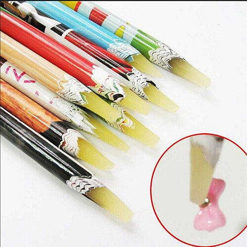 1pc Professional Rhinestone Picker Pencil Adhesive Nail Art DIY Decor