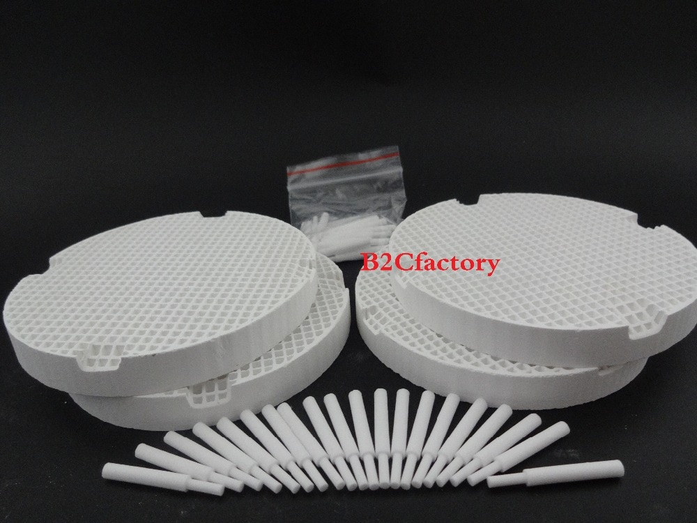 Honeycomb Firing Trays with 40 Zirconia Pins Dental Lab Equipment