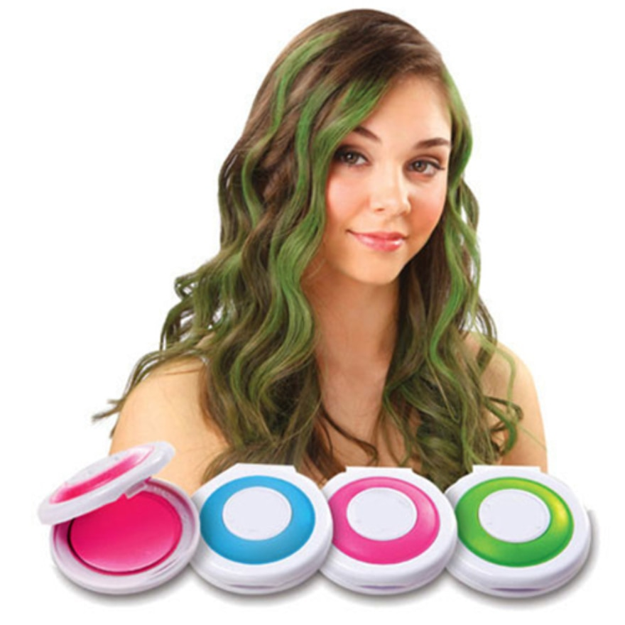 1 Set 4 Colors Hair Dye Temporary Hair Chalk Powder Soft Salon Hair Co