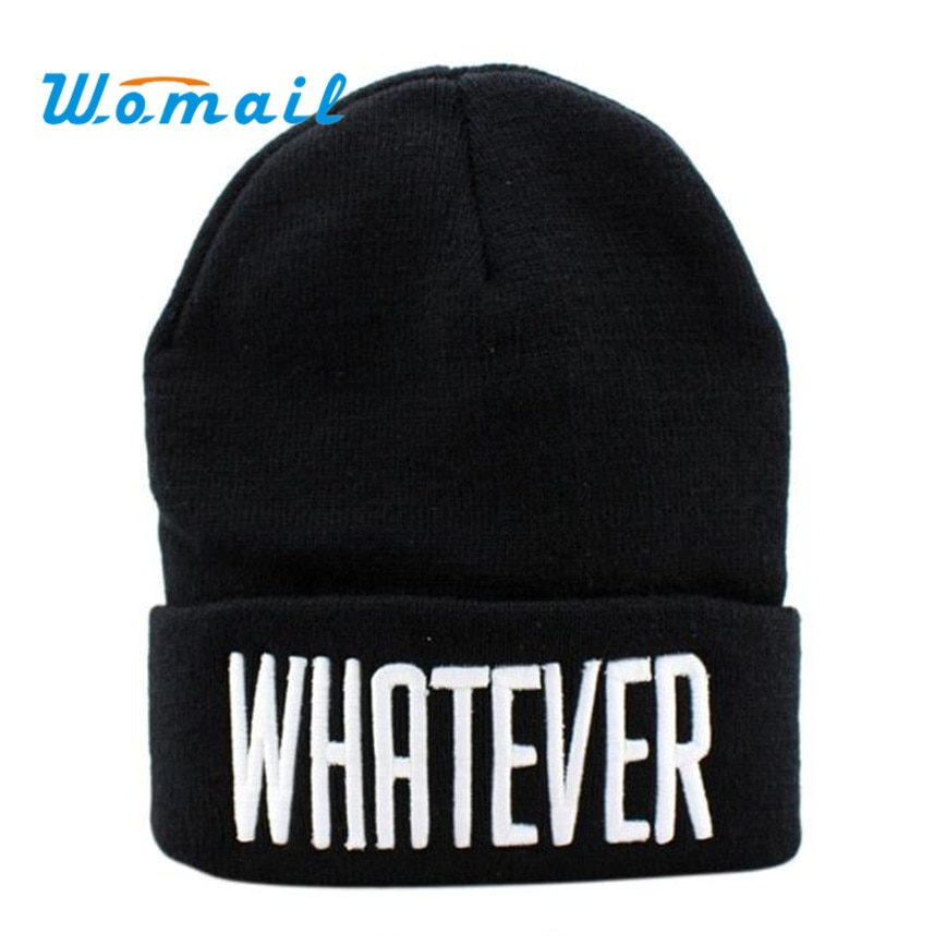2016 New Design Winter Black Whatever Beanie Hat And Snapback Men And