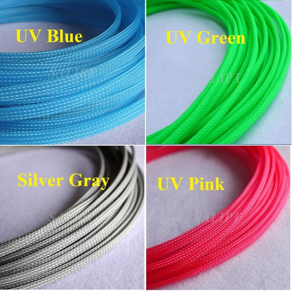 Tight Braided PET Expandable Sleeving Cable Wire Sheath Free Shipping