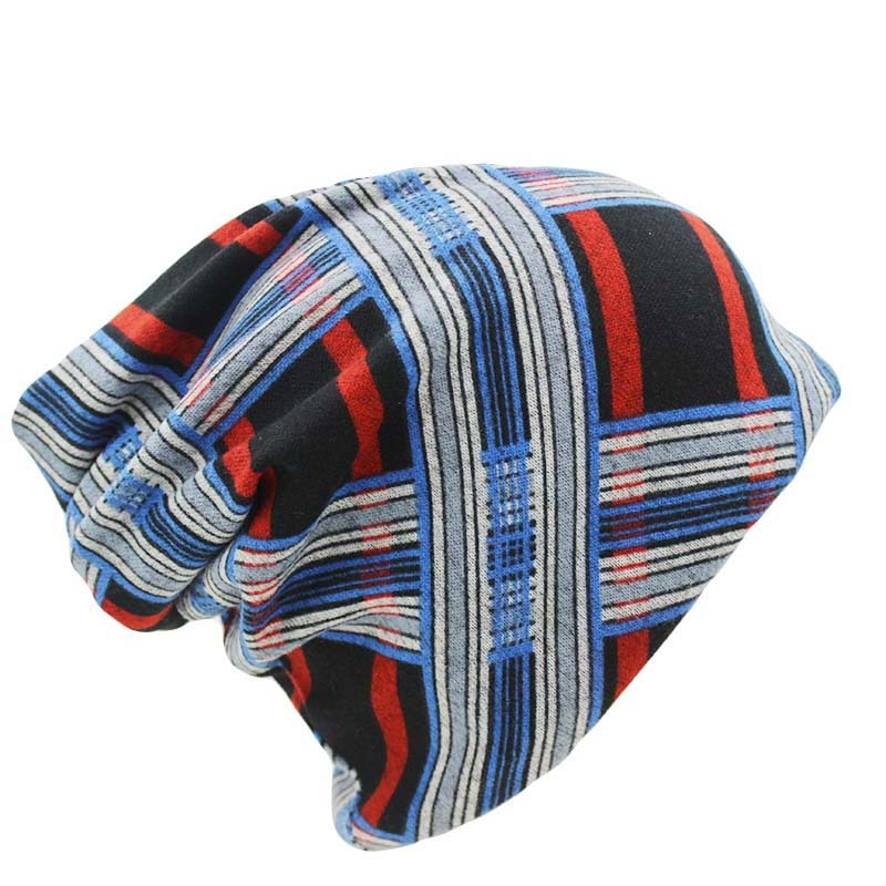 8 Colors Vintage Striped Women Warm Beanie Scarf Top Fashion Lay Casua
