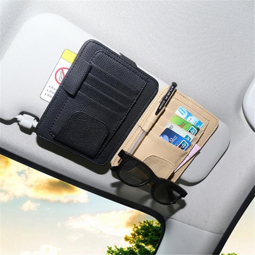 Car Sun Visor Glasses Sunglasses Ticket Receipt Card Clip Storage H