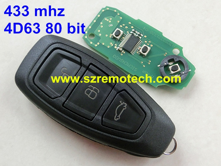 Remote Key 3 Button 434MHz HU101 blade ID83 Fit For Ford Focus C-Max