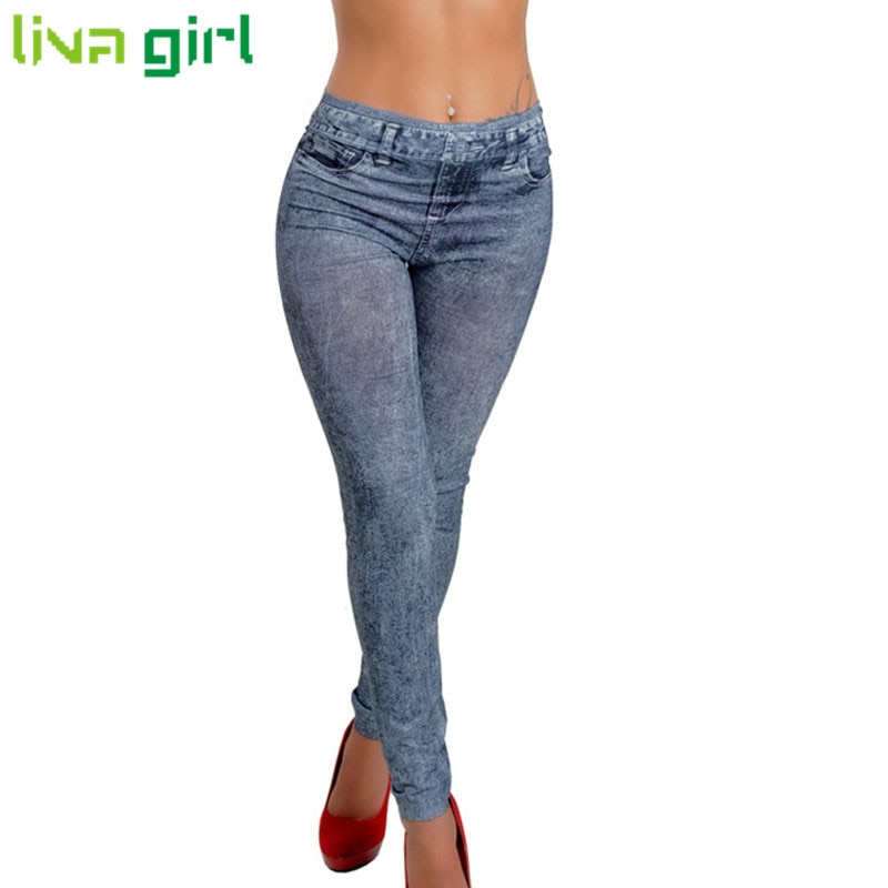 Fashion Jeans Women Pencil Pants High Waist Jeans Sexy Slim Elastic Sk