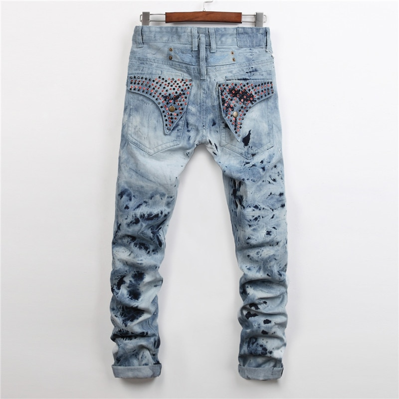 Arrival Mens Robin Style Jeans Male Fashion Slim Fit Designers Snowfla