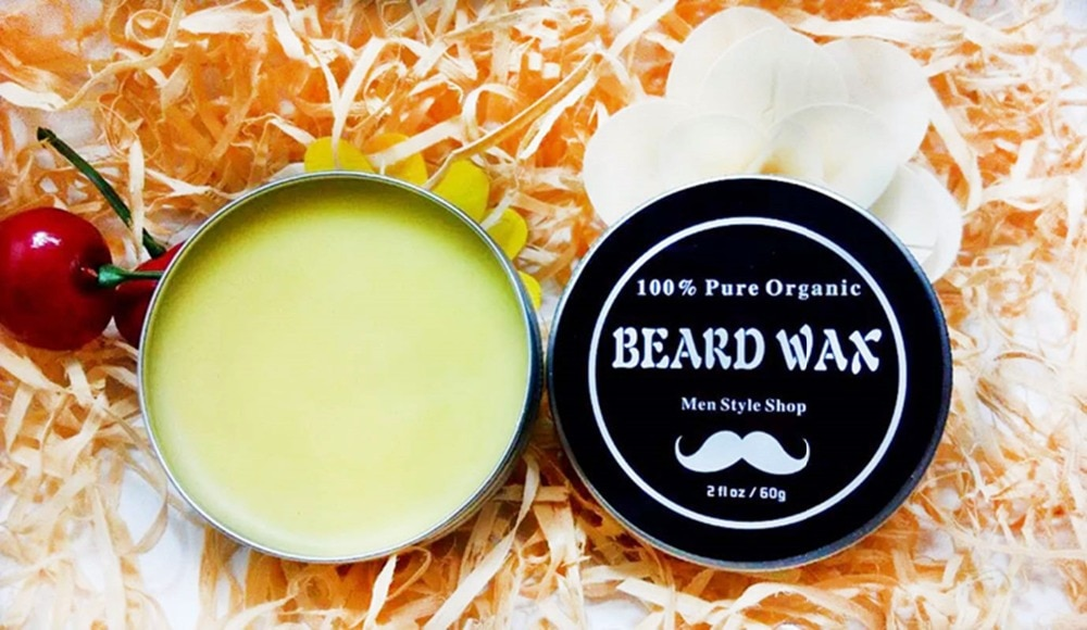 & Organic Beard Conditioner - Leave in Beard Wax for Men, with 13 Natu