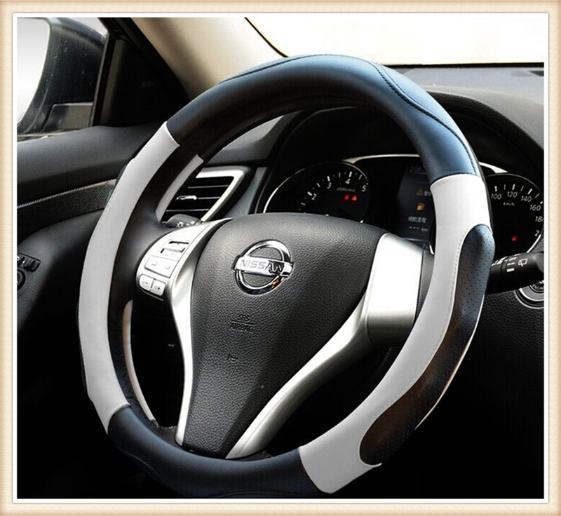 Genuine leather Car Steering Wheel Covers Fit  for Nissan Tiida/Sylph